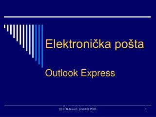 Elektronička pošta Outlook Express