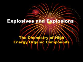 Explosives and Explosions