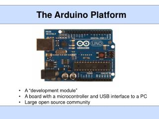 The  Arduino  Platform