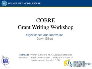 COBRE  Grant Writing Workshop