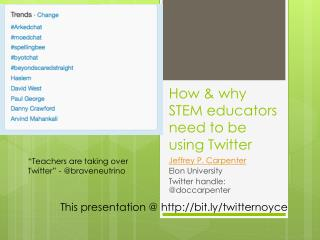 How & why STEM educators need to be using Twitter