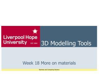 3D Modelling Tools