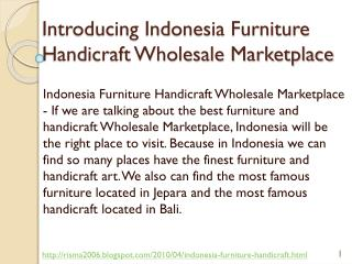 Indonesia Furniture Handicraft Wholesale Marketplace