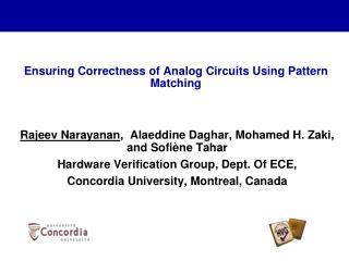 Ensuring Correctness of Analog Circuits Using Pattern Matching