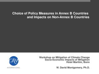 Choice of Policy Measures in Annex B Countries  and Impacts on Non-Annex B Countries
