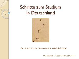 Schritte zum Studium  in Deutschland