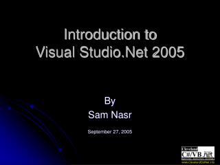Introduction to Visual Studio.Net 2005