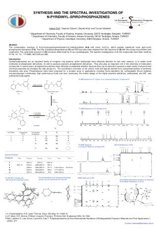 SYNTHESIS AND THE SPECTRAL INVESTIGATIONS OF  N-PYRIDINYL- SPIRO -PHOSPHAZENES