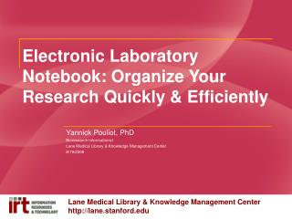 Electronic Laboratory Notebook: Organize Your Research Quickly  Efficiently