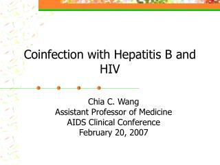 Coinfection with Hepatitis B and HIV