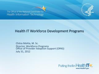 Health IT Workforce Development Programs
