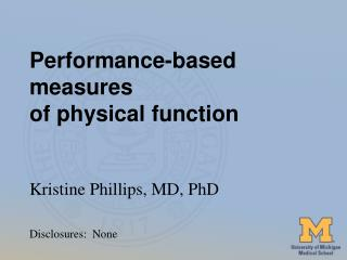 Performance-based measures  of physical function