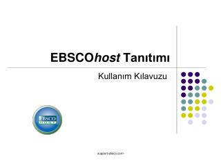 EBSCO host Tanıtımı