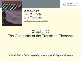 Chapter 22 The Chemistry of the Transition Elements