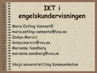 IKT i engelskundervisningen