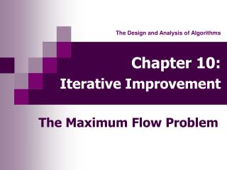 Chapter 10: Iterative Improvement