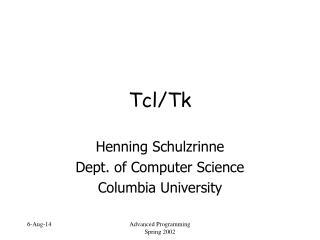 Tcl/Tk