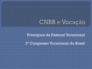 CNBB e Vocação