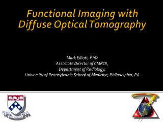 Functional Imaging with Diffuse Optical Tomography