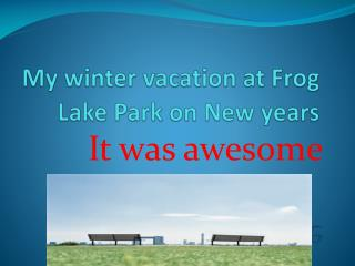 My winter vacation at Frog Lake Park on New years