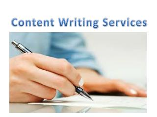 Content Writing Services By GOIGI
