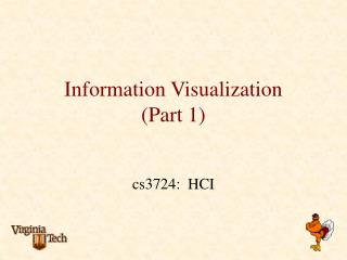 Information Visualization (Part 1)