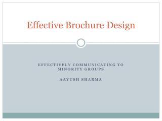 Effective Brochure Design