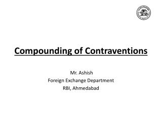 Compounding of Contraventions