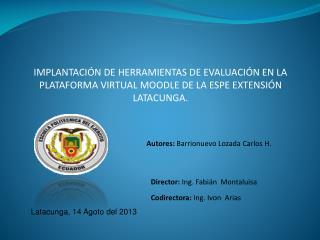 Autores:  Barrionuevo Lozada Carlos H.