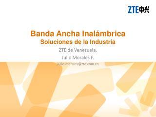 Banda Ancha Inalámbrica Soluciones de la Industria