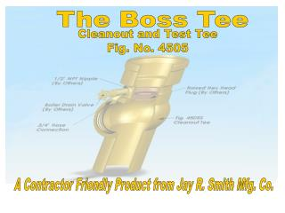 Cleanout and Test Tee Fig. No. 4505
