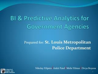 BI & Predictive Analytics for Government Agencies