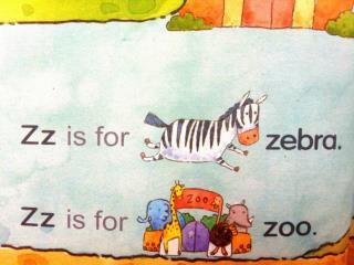 Zz, Zz, Zz,  Zz is for  zebra . Zz, Zz, Zz,  Zz is for  zoo. Zz,  / z /,  zebra .
