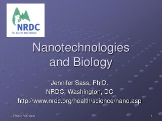 Nanotechnologies  and Biology