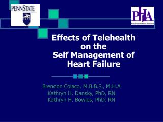 Effects of Telehealth  on the  Self Management of  Heart Failure