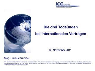 Die drei Todsünden  bei internationalen Verträgen