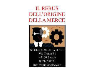 IL REBUS  DELL'ORIGINE  DELLA MERCE