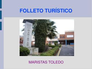 FOLLETO TURÍSTICO