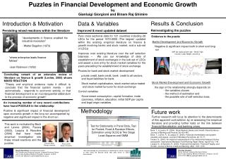 Puzzles in Financial Development and Economic Growth by Gianluigi Giorgioni and Binam Raj Ghimire