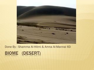 Biome   (desert)