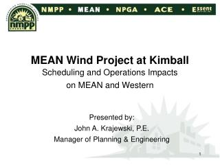 MEAN Wind Project at Kimball