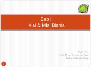 Bab II Visi & Misi Bisnis