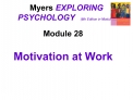 Myers EXPLORING PSYCHOLOGY   6th Edition in Modules