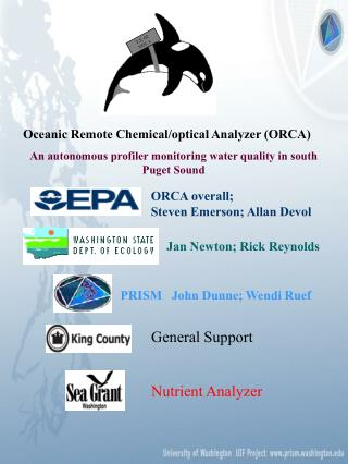 Oceanic Remote Chemical/optical Analyzer (ORCA)