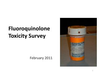 Fluoroquinolone Toxicity Survey