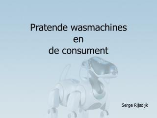 Pratende wasmachines  en  de consument