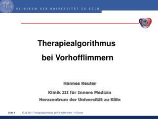 Hannes Reuter Klinik III für Innere Medizin Herzzentrum der Universität zu Köln