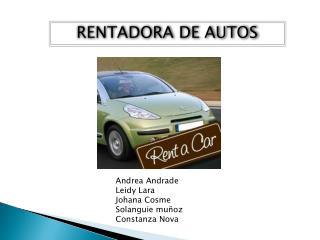 RENTADORA DE AUTOS