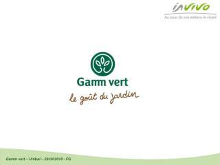 Gamm vert : n�1 fran�ais de la jardinerie de proximit�