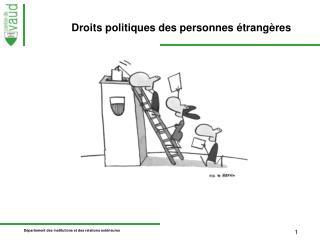 Droits politiques des personnes étrangères